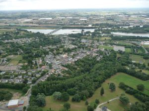 Vue aérienne de Mauves-sur-Loire